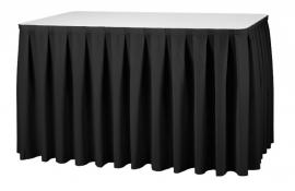 Tafelrok Boxpleat 73 cm hoog zwart