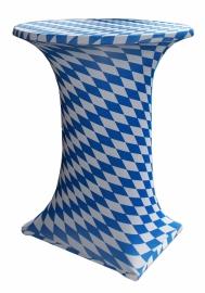 Statafelhoes Samba Oktoberfest blauw wit 80 - 90 cm