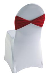 Decoratieband voor rugleuning gedraaid Rood