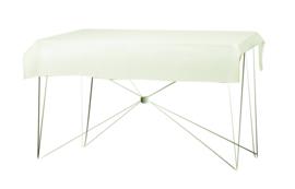 Tafelkleed 190 x 130 cm. Poly Jersey Crème