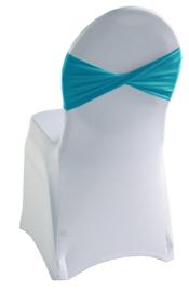 Decoratieband voor rugleuning gedraaid Turquoise