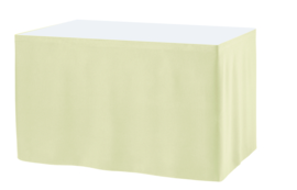 Tafelrok Ongeplooid 73 cm hoog crème