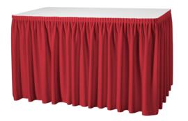 Tafelrok Plissé 73 cm hoog rood