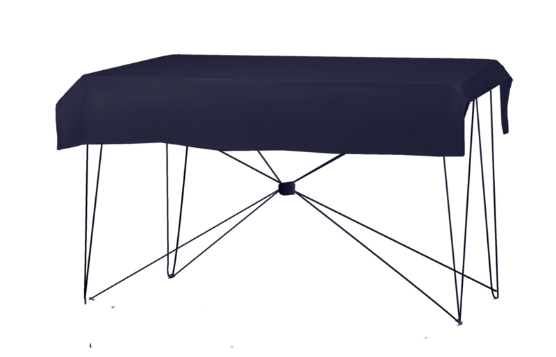 Tafelkleed 170 x 130 cm. Poly Jersey Navyblauw