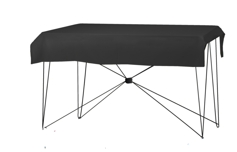 Tafelkleed 170 x 130 cm. Poly Jersey Zwart