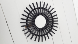 Spiegel ratan-zwart S