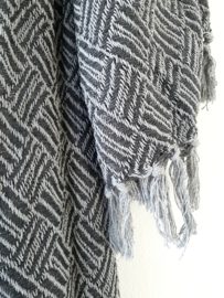 Plaid grijs - donker grijs