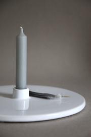 Onshus kandelaar schijf - wit