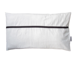 Kussen streep smal - zwart 40 x 60