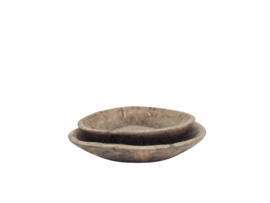 Platte schaal - oud hout S