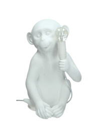 Witte aap lamp