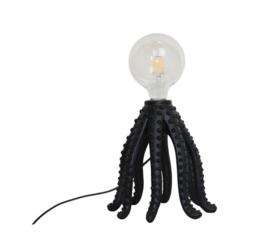 Octopus lamp zwart