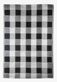 Tuintapijt blokken zwart/wit 120 x 180
