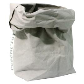 Paperbag / opberger L grijs