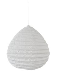 Lampion katoen wit