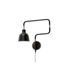 Wandlamp zwart London W/B