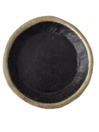 Papier maché schaal zwart / goud