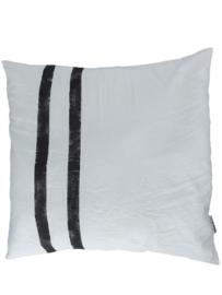 Kussen streep zwart 65 x 65 cm