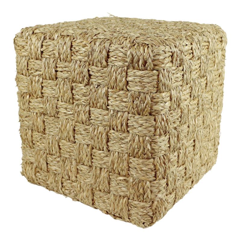 Poef zeegras squares M