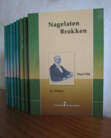 Philpot, J.C. (e.a.)-Nagelaten brokken-Complete serie van acht delen (nieuw)
