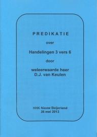 Keulen, D.J. van-Predikatie over Handelingen 3 vers 6 (nieuw)