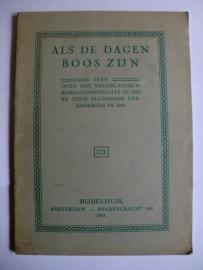 Als de dagen boos zijn-Iets over het Nederlandsch Bijbelgenootschap