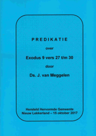 Meggelen, Ds. J. van-Predikatie over Exodus 9 vers 27 t/m 30 (nieuw)