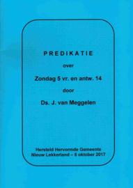 Meggelen, Ds. J. van-Predikatie over Zondag 5 vraag en antwoord 14 (nieuw)