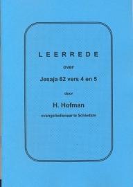 Hofman, Ds. H.-Leerrede over Jesaja 62 vers 4 en 5