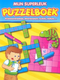 Mijn superleuk Puzzelboek-Kruiswoordraadsels, Woordzoekers, Sudoku, Kakuro... (nieuw)