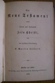 Das Neue Testament-Uebersessung Martin Luther