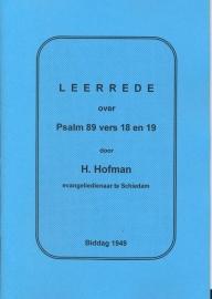Hofman, Ds. H.-Leerrede over Psalm 89 vers 18 en 19