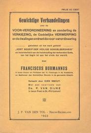 Burmannus, Franciscus-Gewichtige Verhandelingen
