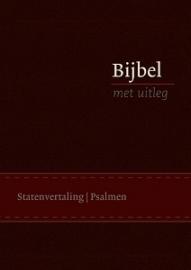 Bijbel met uitleg in Statenvertaling-Flexibele band, bruin, midden formaat (nieuw)