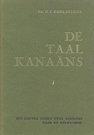 Kohlbrugge, Dr. H.F.-De taal Kanaans