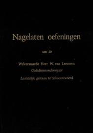 Leeuwen, W. van-Nagelaten oefeningen