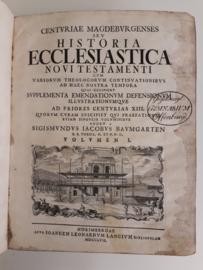Baumgarten, Sigismundus Iacobus-Historia Ecclesiastica Novi Testament