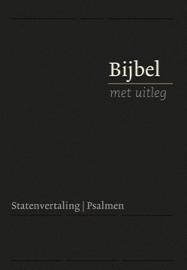 Bijbel met uitleg in Statenvertaling-Harde band, zwart, groot formaat (nieuw)