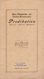 Dyke, Ds. A. van-Een Pinkster- en twee dankdagpredikatiën