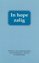 Mallan, Ds. F. (e.a.)-In hope zalig (nieuw)