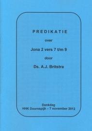 Britstra, Ds. A.J.-Predikatie over Jona 2 vers 7 t/m 9 (nieuw)