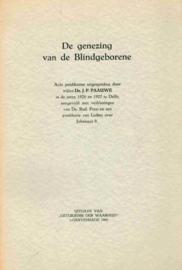 Paauwe, Ds. J.P. en Luther, Dr. Maarten-De genezing van de blindgeborene