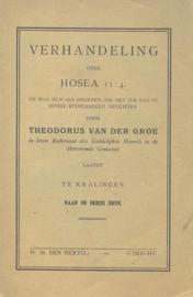 Groe, Theodorus van der-Verhandeling over Hosea 11:4