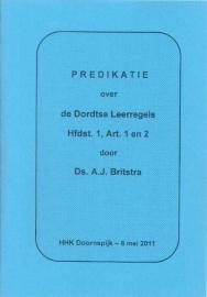 Britstra, Ds. A.J.-Dordtse Leerregels Hfdst. 1, Art. 1 en 2 (nieuw)