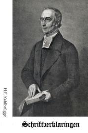 Kohlbrugge, Dr. H.F.-Schriftverklaringen deel 1