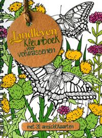 Landleven-Kleurboek voor volwassenen; met 32 ansichtkaarten (nieuw)
