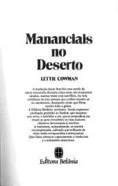 Cowman, Lettie-Marnanciais no Deserto