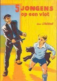 Valkhof, J.-5 jongens op een vlot