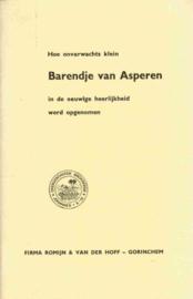 Asperen, Maria van-Barendje van Asperen