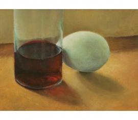 Stilleven met flesje wijn